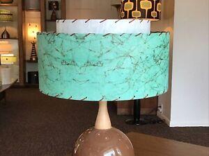 Mid Century Modern Vintage Style 2 Tier Fiberglass Lamp Shade Atomic Retro 889
