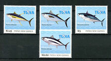 Papua New Guinea 2016 MNH Yellowfin Tuna Fishing 4v Set Fish Fishes Stamps