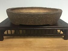 "Handmade Unglazed Bonsai Tree Pot By Banko Shunzan. 6 1/8"" Great Piece"