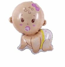 """Crawling Baby Girl 30"""" Balloon Birthday Party Decorations Baby Shower Pacifier"""