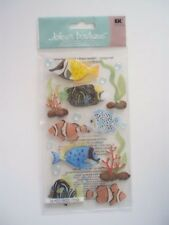 JOLEES BOUTIQUE TROPICAL FISH LARGE SCRAP BOOKING STICKERS
