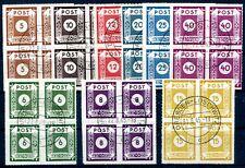 SBZ 42-50G gestempelt im VIERERBLOCK Spitzen geprüft BPP 480€(Z2286