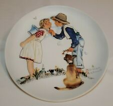 Vintage Norman Rockwell Spring Beguiling Buttercup Collector Plate Gorham Mint