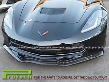 2014+ Corvette C7 Stage 2 Stingray Carbon Fiber  Front Bumper Lip Z51 / Z06