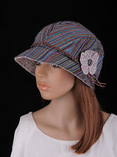 caed5039bf74a M253 Mix Color Cute Flower 100 Cotton Women s Summer autumn Brim Hat  Newsboy Cap
