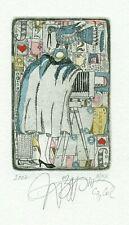 Exlibris Etching Bookmark: Nozdrin