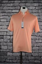 "Mizzen + Main ""YOSEMITE""  Peach Parfait Polo Short Sleeve Sz Large MSRP $80.00"