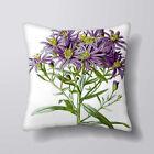Fleurs Violettes imprimé Housse Coussin Taies D'oreilles Décor Maison/Intérieur