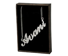 "Name Necklace ""AVANI"" - 18ct White Gold Plated - Made With Swarovski Elements"