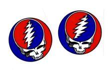 "2"" Round Grateful Dead Steal Your Face Decal Sticker Jerry Garcia Skull Hippie"