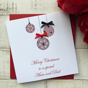 Personalised Handmade Christmas Card Mum Dad Husband Wife Friend Sister Brother
