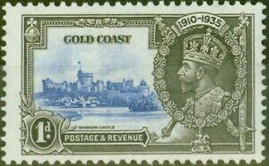 Gold Coast 1935 1d Ultramarine & Grey-Black SG113C Lighting Conductor Fine Mt...
