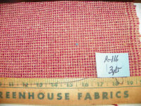 Burgundy Beige Tweed Nylon Fabric / Upholstery Fabric  1 Yard  R116