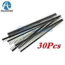 30Pcs 40Pin 2.54mm Single Row Right Angle Pin Header Strip Arduino kit