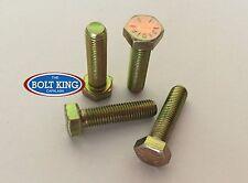 """1/4"""" x 1/2"""" UNF Hex Bolt zinc yellow high tensile grade 8 QTY 20"""