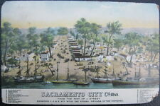 SACRAMENTO CA ~ Sacramento City in 1849 ~ From Foot of J Street ~ Sail Ships !