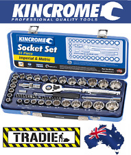 "Kincrome 1/2"" Drive Imperial & Metric, Mirror Polish, Socket Set, Brand New"