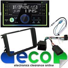 VW Caddy JVC DOPPIO DIN BLUETOOTH CD MP3 USB AUX STEREO AUTO & SWC Kit di montaggio