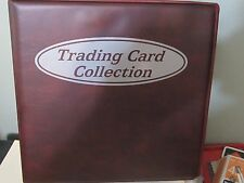 BCW TRADING CARD ALBUM 3 INCH BURGUNDY COLOR