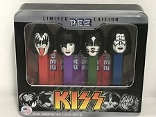 "PEZ ""KISS"" Limited Edition 2012 TIN - 4 - PEZ DISPENSERS W/CANDY - B.N.I.T. - SE"
