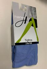 NWT Hanes Seasonless Tights  size Small S  Frontier Blue 95-140 lbs Control Top