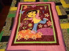 DORA BUTTERFLY PURPLE BABY QUILT MATCHING BACKING CRIB SIZE