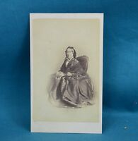 Victorian CDV Photo Carte De Visite Seated Lady With Book Johnson Wisbeach
