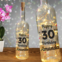 Personalised Light Up Bottle Milestone Birthday Gift 18th 21st 30th 40th 50th 60