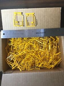 HO Scale Box of Yellow Train Car Parts New Old Stock NOS $1 Lot #195