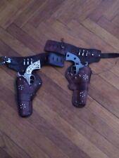 Vintage 1950s Gunsmoke Marshal Matt Dillon Cap Guns And Holster Set