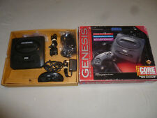 BOXED SEGA GENESIS CORE SYSTEM CONSOLE CONTROLLER ADAPTER SET COMPLETE IN BOX >>