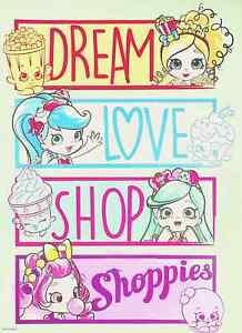 "DREAM - LOVE - SHOP - Shopkins Shoppies Mini Poster 8"" x 11"""