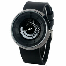 Casual Turntable Analog Spiral Creative Quartz Wrist Watch Unisex Rubber Band