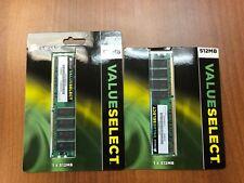Corsair 512MB DDR1 184 pin 400MHz memory modules - 2 pack - VS512MB400