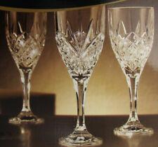 Set of 3 - GODINGER Dublin SHANNON CRYSTAL 9 oz Goblets - NEW