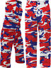 Red White Blue Camo BDU Pants USA Patriotic Army American Military Fatigues