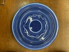 Cobalt wt White 2 Design Vintage Lunch Plate 611 Pacific Pottery California
