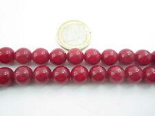 1 filo in radice di rubino cabochon di 8 mm lungo 38,5 cm