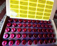 Locking Refrigerant Caps Pink 1/4 Inch R410 (50 Pack)