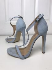 4df612471 Matalan Blue Suede Strappy Heeled Sandals Size 5
