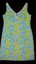 Lilly Pulitzer MIMOSA THE EVERGLADES 6 Dress Aqua Blue Alligator Crocodile Women