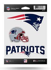New England Patriots Triple Spirit Sticker Sheet Die Cut Decal Full Color Logo