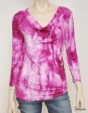 Nwt $79 Michael Kors Cowl Neck Tie Dye Jersey Blouse Tee Top Tunic Shirt Peony S