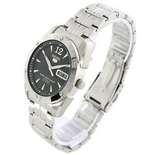 Seiko Automatic 23 Jewels Black Dial Stainless Steel Men's Watch SNZF43K1