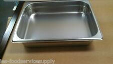 """New listing (Lot Of 6) Half Size 2"""" Deep Stainless Steamtable Pans Hot Food Table Steam Pan"""