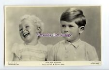 r2794 - Young Princess Anne laughing with her brother Prince Charles - postcard