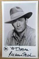 Gregory Peck Autograph Autogramm auf  Netter-Karte (ca. 9 cm x 14cm)