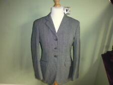"Caldene Keepers Tweed ladies mediumweight wool show jacket grey size 38"" UK 12"