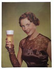 vintage beer girl poster