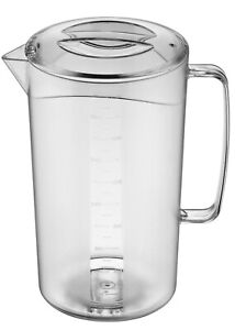 Corona Professional 2Litre PC Jug Pitcher Decanter with Lid Water Milk Container